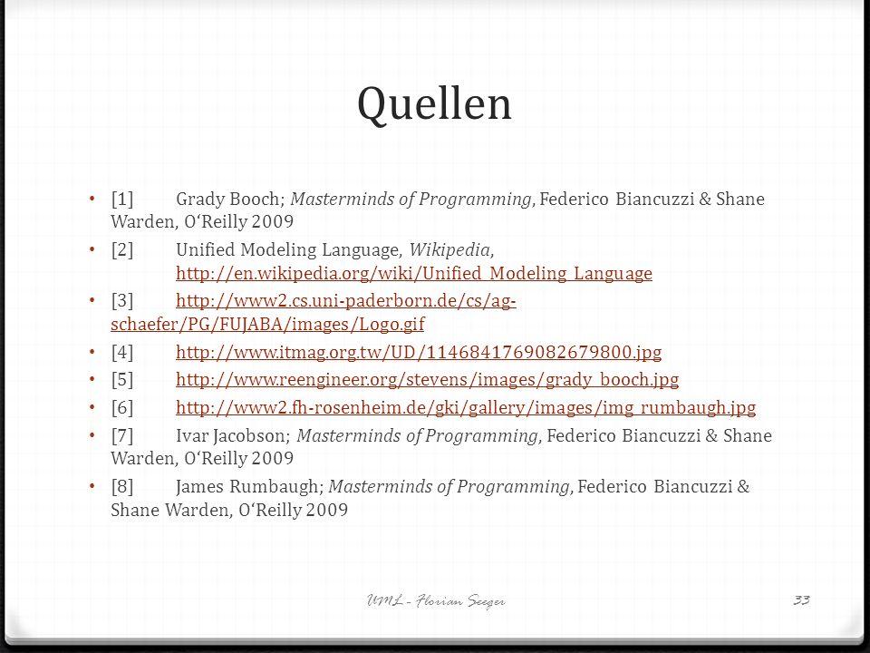 Quellen[1] Grady Booch; Masterminds of Programming, Federico Biancuzzi & Shane Warden, O'Reilly 2009.